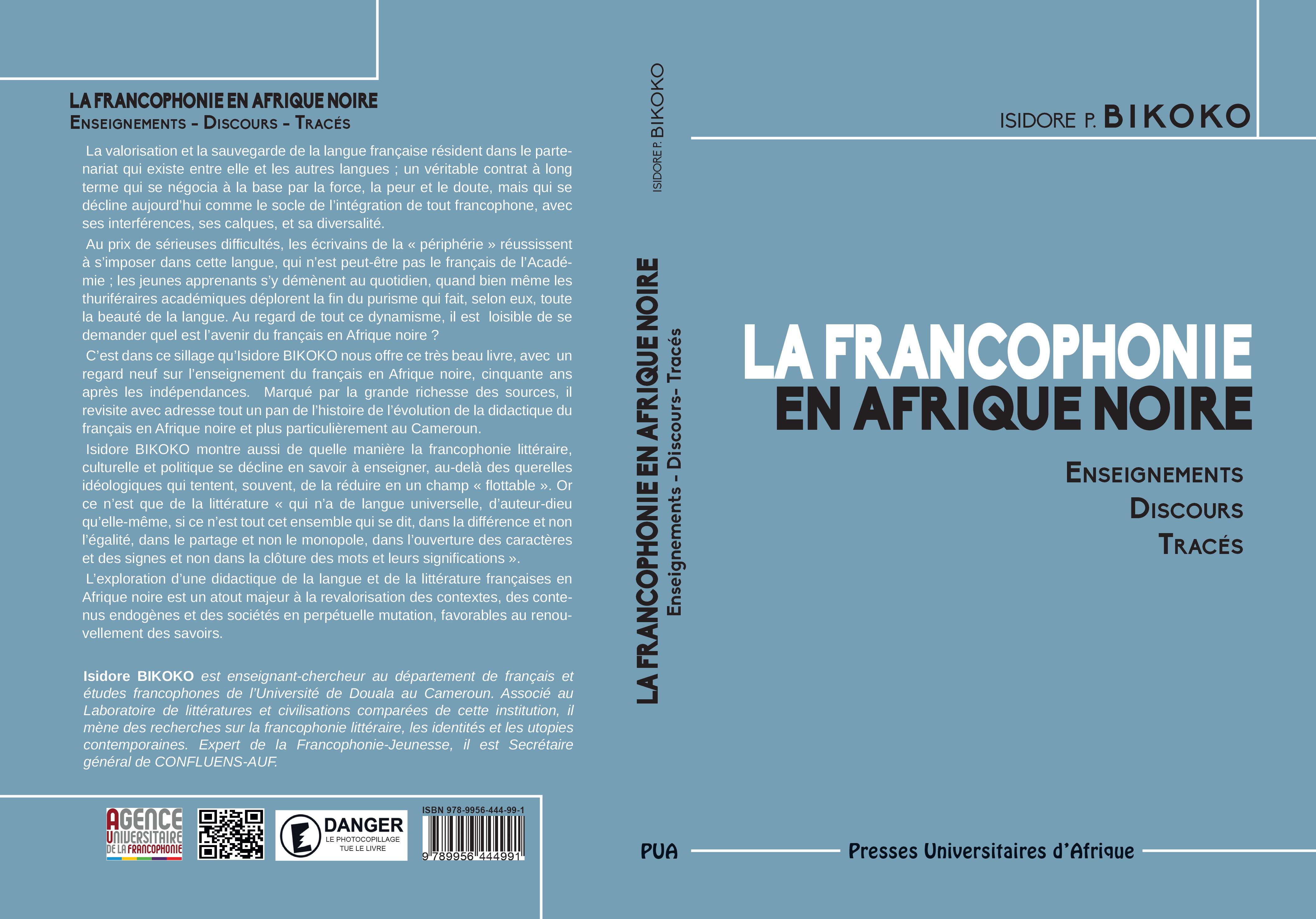 L'exploration d'une didactique de la langue et de la littérature françaises en Afrique noire est un atout majeur à la revalorisation des contextes, des contenus endogènes et des sociétés en perpétuelle mutation, favorables au renouvellement des savoirs.
