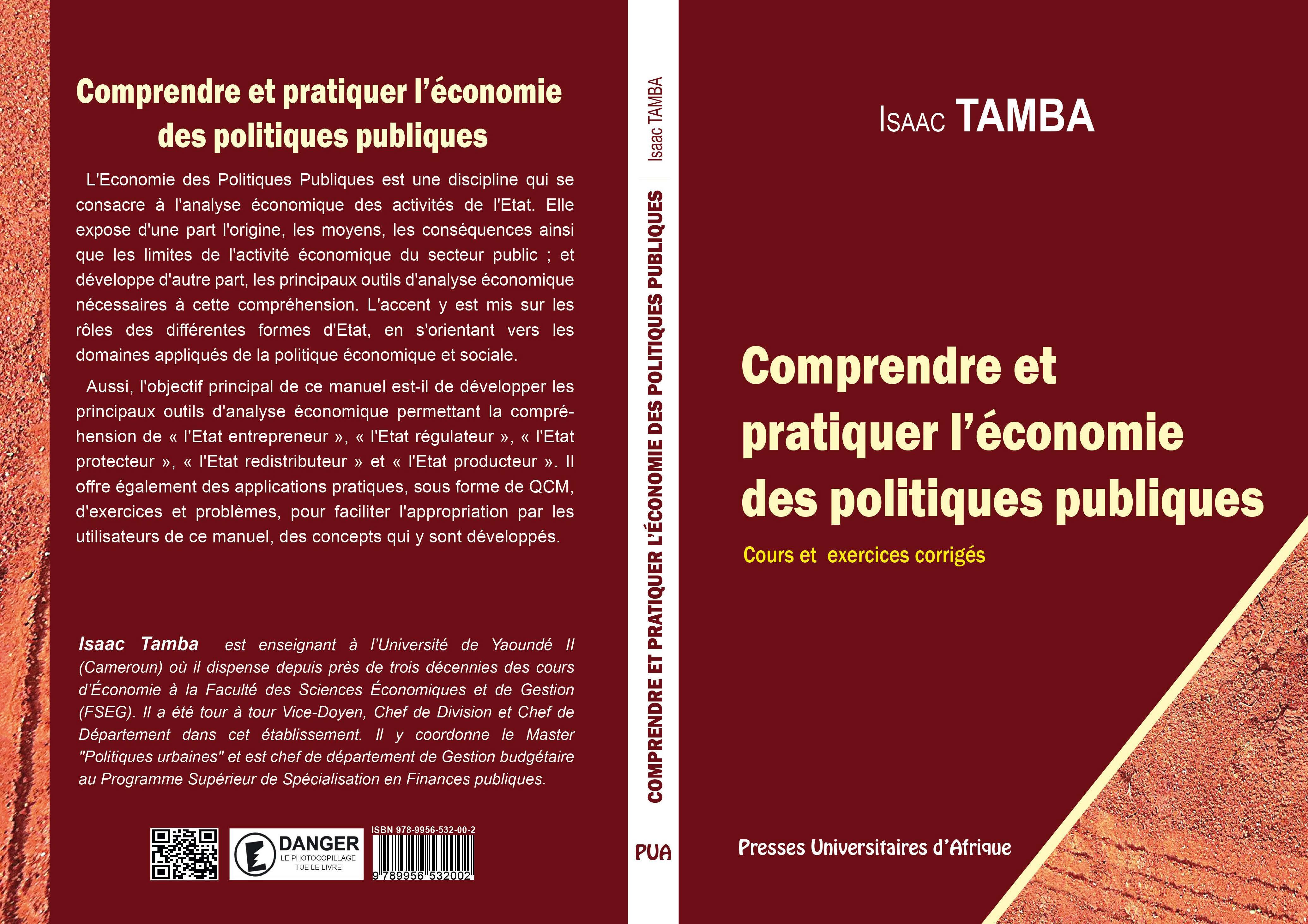 Couverture: Comprendre et pratiquer l'économie des politiques publiques