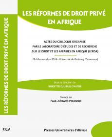 Couverture Les réformes de Droit privé en Afrique