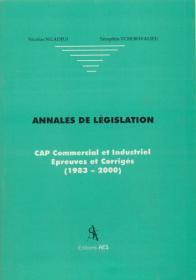 Couverture : Annales de législation