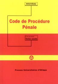 Couverture : Code de procédure pénale