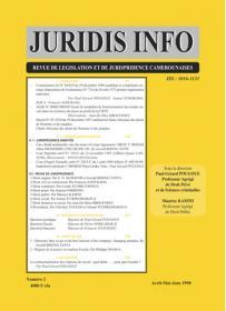 Couverture : Juridis N° : 2