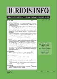 Couverture : Juridis N° : 4