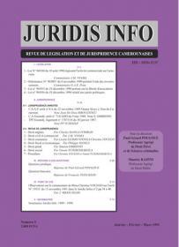 Couverture : Juridis N° : 5