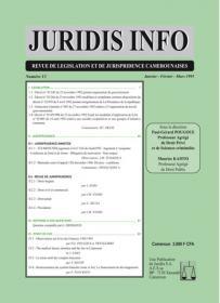 Couverture : Juridis N° : 13