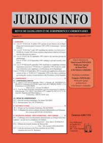 Couverture : Juridis N° : 31