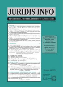 Couverture : Juridis N° : 33