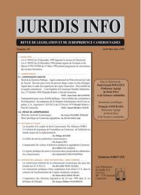Couverture : Juridis N° : 38