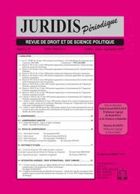 Couverture : Juridis N° : 39