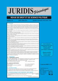 Couverture : Juridis N° : 40