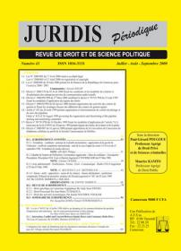 Couverture : Juridis N° : 43