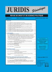 Couverture : Juridis N° : 45