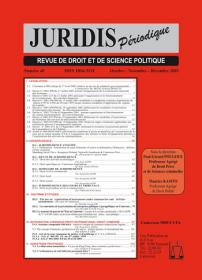 Couverture : Juridis N° : 48
