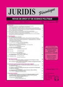 Couverture : Juridis N° : 51