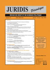 Couverture : Juridis N° : 53