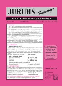 Couverture : Juridis N° : 56