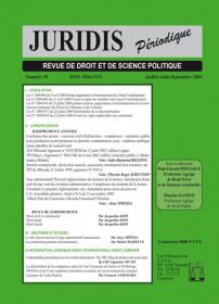 Couverture : Juridis N° : 59