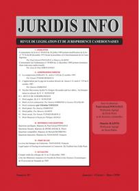 Couverture : Juridis N° : 1