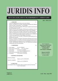 Couverture : Juridis N° : 6