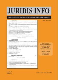 Couverture : Juridis N° : 7