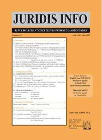 Couverture : Juridis N° : 10