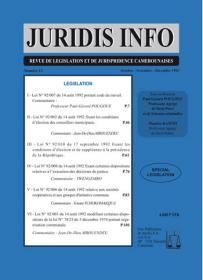 Couverture : Juridis N° : 12
