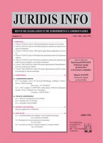 Couverture : Juridis N° : 14