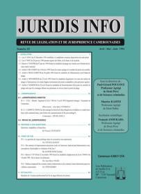 Couverture : Juridis N° : 18