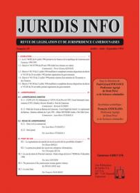 Couverture : Juridis N° : 19