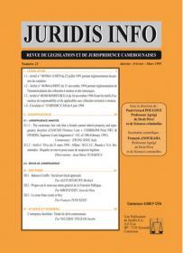 Couverture : Juridis N° : 21
