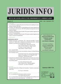 Couverture : Juridis N° : 23
