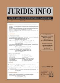 Couverture : Juridis N° : 26