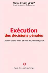 Couverture : Exécution des décisions pénales