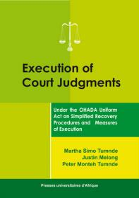 Couverture : Execution of Court Judgments
