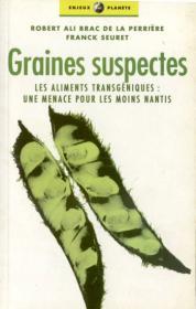 Couverture : Graines suspectes
