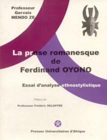 Couverture : La prose romanesque de Ferdinand Oyono