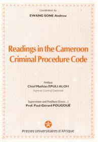Cover : Readings in the Cameroon Criminal Procedure Code