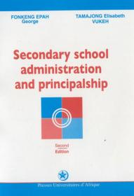 Cover : Secondary School Administration and Principalship
