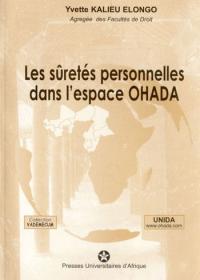 Couverture : Les sûretés personnelles dans l'espace OHADA