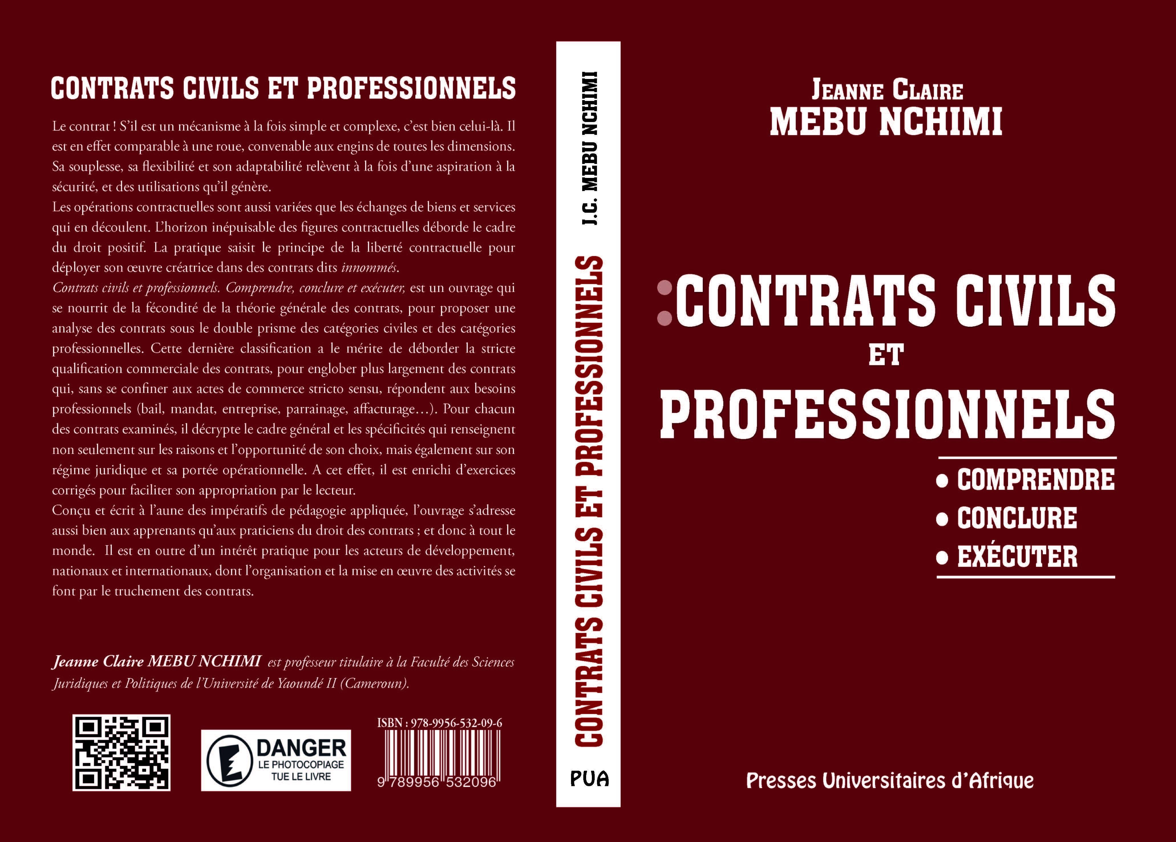 Couverture Contrats civils et professionnels